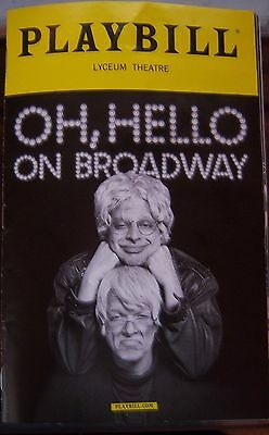 Oh, Hello Broadway Playbill Free Shipping