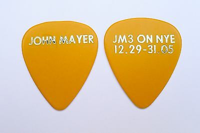 John Mayer Guitar Pick. Yellow JM3 On NYE 12.29-31-05. John Mayer Trio!