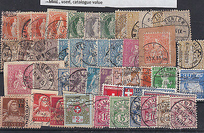 Switzerland Mixed Early Used  Stamps, Huge Cat Value  . Ref 1938
