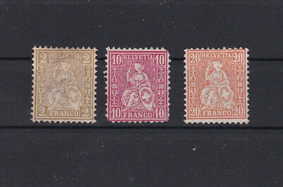 Switzerland Three Unused Mounted Stamps Stamps . Ref 1936
