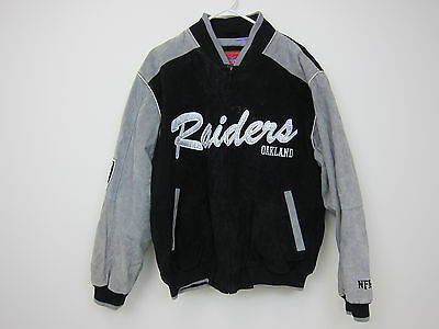 buy online c28c4 76109 NFL OAKLAND RAIDERS Leather Varsity Jacket - Mens Large
