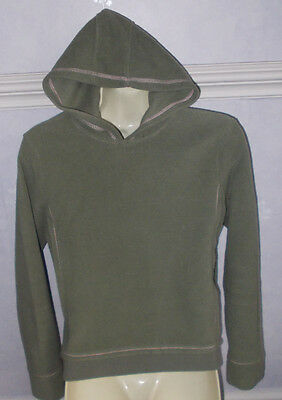 Girls sage green with pink stitch detail Fleece hoodie to fit up to chest 34""