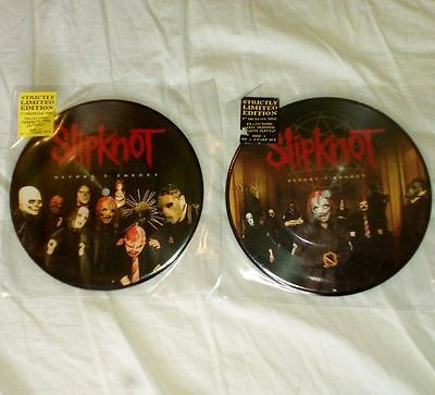 """Slipknot 7"""" Vinyl Picture Disc  Before I Forget 2 Part Set Rare Collectible Korn"""