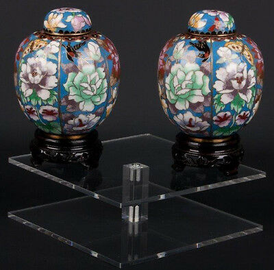 China 20. Jh. Deckeldosen - A Pair Of Chinese Cloisonne Jars - Cinese Chinois