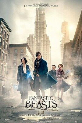 FANTASTIC BEASTS AND WHERE TO FIND THEM BUS SHELTER 4FT x 6FT  NEW  STUDIO PROMO