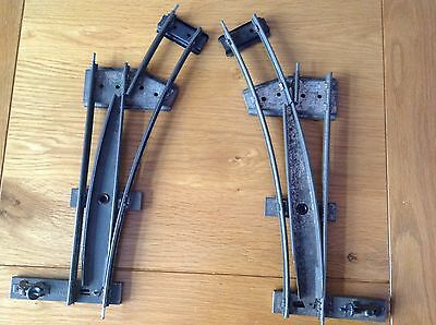 Hornby O Gauge Pair Of Right And Left Hand Points In Good Condition
