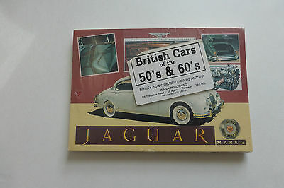British Cars of the 50s&60s Jenna Postcards Sealed Pack