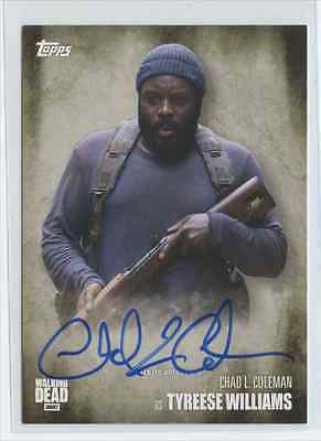 2016 Topps The Walking Dead Season 5 Chad L. Coleman Tyreese Williams Auto