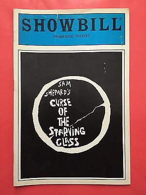 CURSE OF THE STARVING CLASS Playbill w/ Kathy Bates, Bradley Whitford (Shepard)
