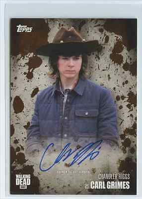 2016 Topps Walking Dead Season 5 Carl Grimes Chandler Riggs Auto Autograph /50
