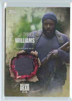 2016 Topps Walking Dead Season 5 Tyreese Williams Authentic Shirt Relic