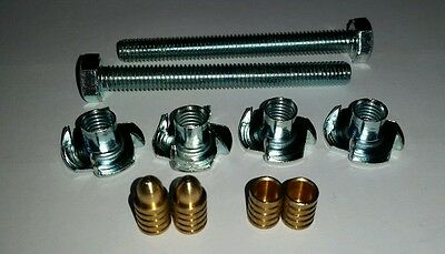 Baseboard Joining Kit - Bolts, Prong Nuts & Alignment Dowels Single Set