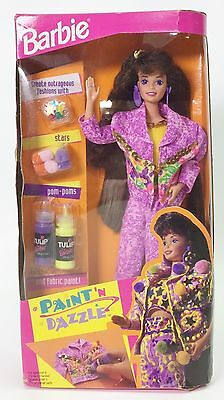 Barbie Paint 'n Dazzle Brunette Nrfb
