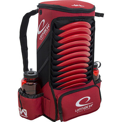 NEW Latitude 64 Disc Golf Easy-Go Backpack Bag - Red