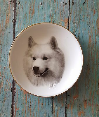 SAMOYED Mini Collector Plate Dog Handpainted by Rosalinde Husky