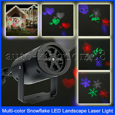 Outdoor Projector LED Light Moving White Snowflake Indoor for Xmas Christmas