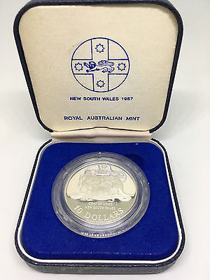 1987 Australian State Series - New South Wales $10 Silver Proof Coin