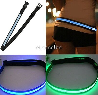 USB Rechargeable LED Reflective Belt High Visibility for Running Cycling Walk