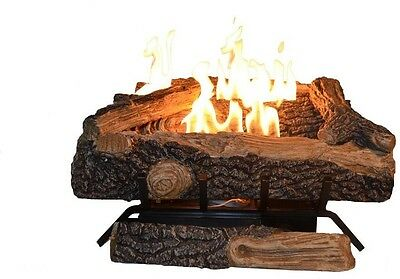Emberglow Oakwood 24 in. Vent Free Natural Gas Fireplace Logs Insert Heater Set