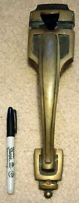 Rare Vintage - Large Heavy Bronze Door Pull Handle With Thumb Latch