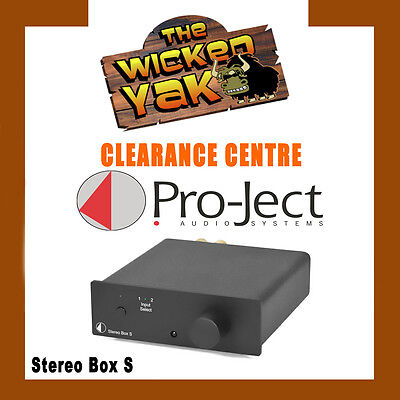 Project Pro-Ject 30 watts x 2 Stereo Box S Integrated Amplifier Black-Brand New!