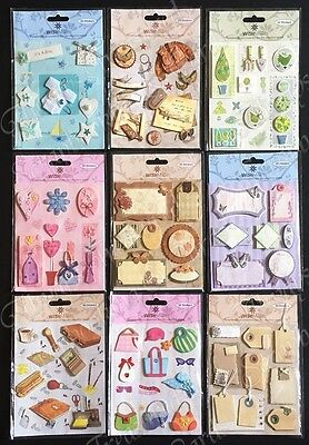 Wishmade 3D Embellishment Stickers ~ 9 Design Options Scrapbooking Card Craft