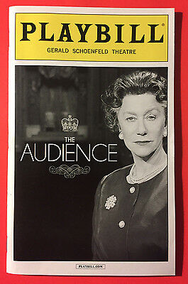 THE AUDIENCE Playbill w/ Helen Mirren, Dylan Baker, Judith Ivey QUEEN ELIZABETH