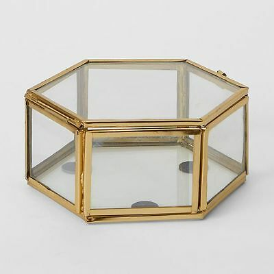 NEW Copper Hexagon Glass Boxes