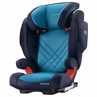 Recaro Monza Nova 2 Seatfix (Isofix) Childs Car Seat - 3-12 Yrs, Xenon Blue