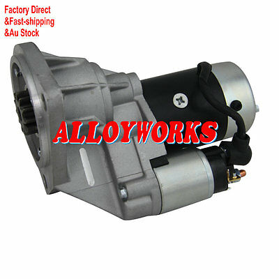 Starter Motor For Nissan Patrol GU II III IV inc Turbo Engine TD42 4.2L 00-07