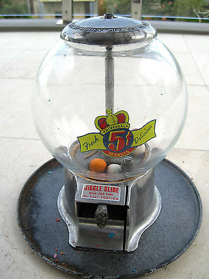 Antique universal peanut Machine Glass with Metal By Abbe MFG Co St Louis USA