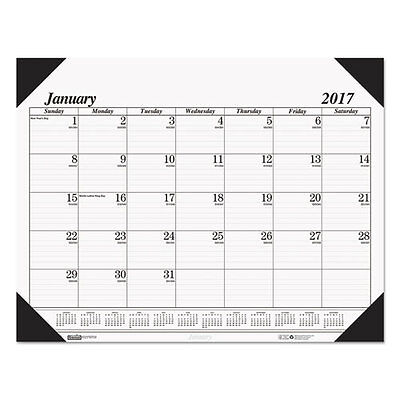 House of Doolittle Recycled One-Color Refillable Monthly Desk Pad Calendar,...