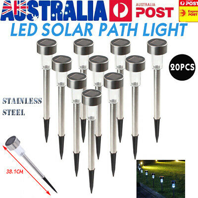 20X Waterproof LED Solar Power Yard Path Garden Lawn Landscape Lamp Light NEW