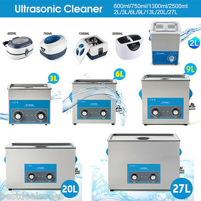 Multi Purpose Ultrasonic Sonic Wave Cleaner Jewellery Glasses Watch Cleaning AU