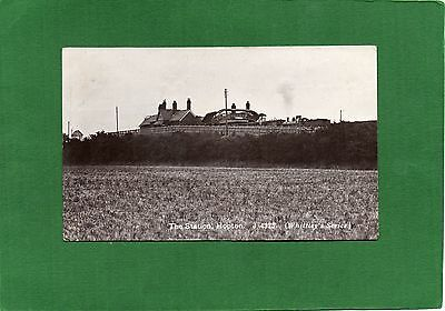 Real Photo Postcard Hopton Railway Station Norfolk with Steam Engine posted 1926