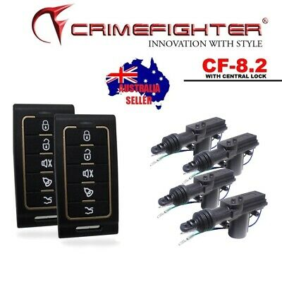 CRIMEFIGHTER CF-8.2 Keyless Entry One Way Car Alarm System + Central Locking Kit