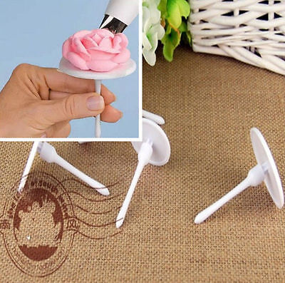 XK 4X Cake Cupcake Stand Icing Cream Flower Nails Set Sugarcraft Decorating Tool