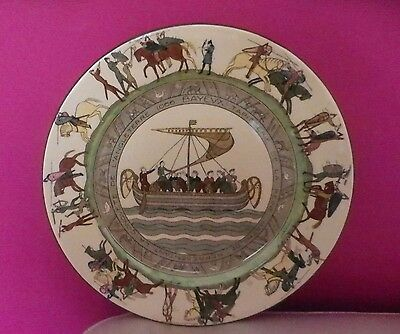 Rare Royal Doulton Bayeux Tapestry Rack Plate D2873 - Excellent !!