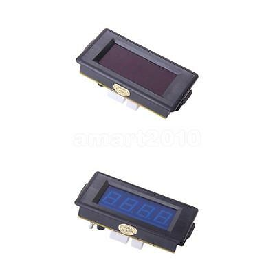2pcs Red/Blue LED 4-Digit Digital Counter Module Anti-interference