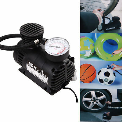 300PSI 12V Car Auto Bike Portable Pump Tire Inflator Mini Air Compressor W#