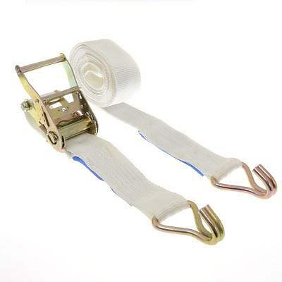 2000kg x 6m ratchet strap In White 2t - 50mm Wide