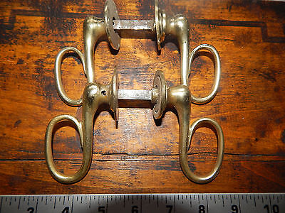 antique French lot 2 pairs door handles bronze 19 th century ,Empire period