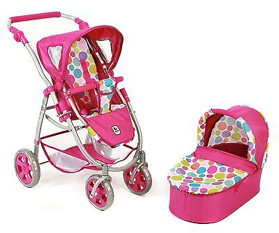 CHIC 2000 Bayer 2-in-1 Emotion Bubbles Combi Dolls Pram (Pink)