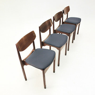 Set di 4 sedie in palissandro stile danese anni '50, chairs, danish style
