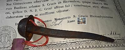 St Croix Vatican 1870 Relic (Replica) of Holy Nail Passion Nail of Christ +Cert