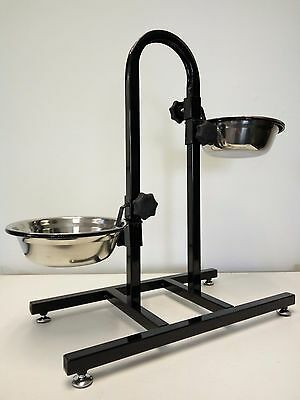 Bird Parrot Rabbit Dog Cat Food Water Bowl Feeder Stand with S/S Cups * ED5