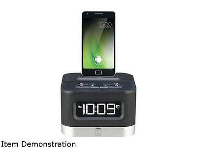 iHome IC50B Universal Charging FM Stereo Alarm Clock Radio for Android Smartphon