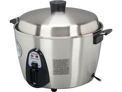 TATUNG Stainless Steel Multi-Functional Rice Cooker and Steamer, 22 Cups cooked/