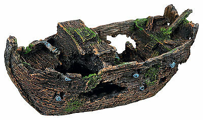 Wooden Shipwreck Decoration Fish Cave Ornament for Aquarium Fish Tank