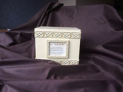 Serenity Heart Pet Urn - Keepsake Box with photo frame for ashes or memories